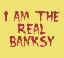 I am the Real Banksy by Chillee Wilson Kids Tee