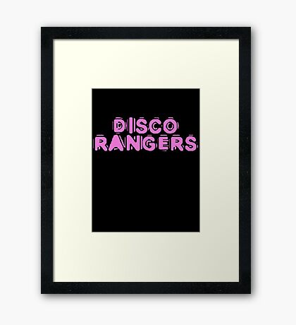 Disco Rangers by Chillee Wilson Framed Print