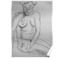 female nude ... pencil sketch # 4 Poster