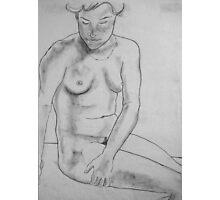 female nude ... pencil sketch # 4 Photographic Print