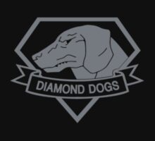 Metal Gear Solid - Diamond Dogs over Heart (Gray)  by crimzind