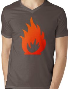 Flame Symbol by Chillee Wilson Mens V-Neck T-Shirt