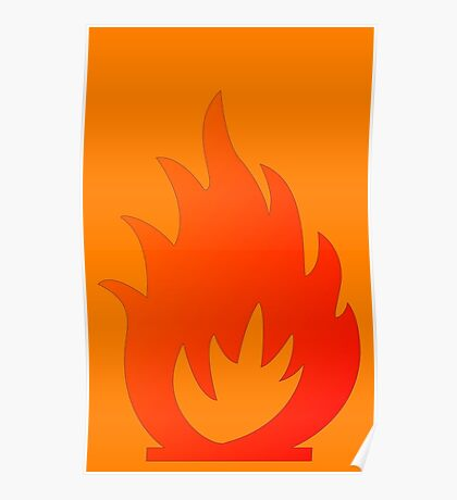 Flame Symbol by Chillee Wilson Poster