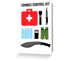 Zombie survival kit Greeting Card