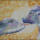 Blue Mooning - Cow Licks by scallyart