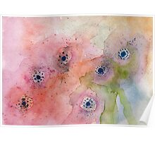 Abstract flowers - Watercolour Poster
