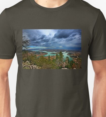 Panorama of Plastiras lake Unisex T-Shirt