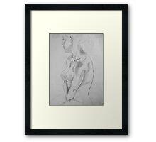 female nude ... pencil sketch # 5 Framed Print