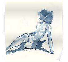 Flat Blue Poster