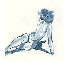 Flat Blue Photographic Print