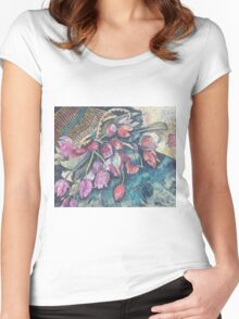 Tulips in Basket Women's Fitted Scoop T-Shirt