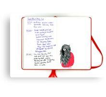 Tiny Diary: Seedling Canvas Print