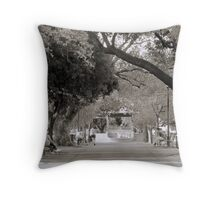 Lazy Afternoon in The Park Throw Pillow