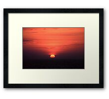 Akyaka Sunset Framed Print
