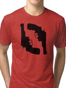 Handguns by Chillee Wilson Tri-blend T-Shirt