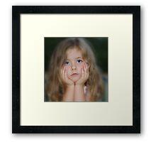 Waiting for Mum,,,,,,,,,,,, Framed Print