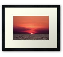 Akyaka - An Astronomical Sunset Framed Print