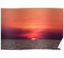 Akyaka - An Astronomical Sunset Poster