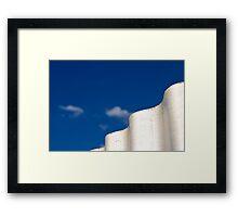 waves of white Framed Print