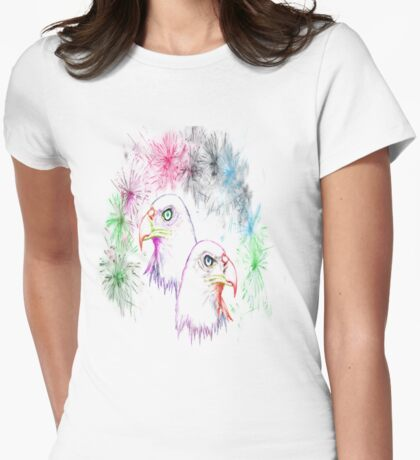 Fantasy - Eagles and Fireworks Womens Fitted T-Shirt