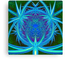 Inside the Green Metal Cube Canvas Print