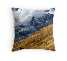 Avalanche! (Annapurna) Throw Pillow