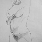 female nude ... pencil sketch # 6 by Juilee  Pryor