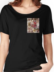Butterfly on Blossom Watercolour Women's Relaxed Fit T-Shirt