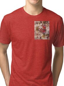 Butterfly on Blossom Watercolour Tri-blend T-Shirt