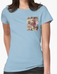 Butterfly on Blossom Watercolour Womens Fitted T-Shirt