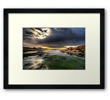 Willow Lake Wide Framed Print