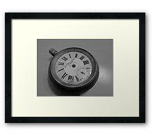No tick, war watch, ancient, broken, time - put on hold Framed Print
