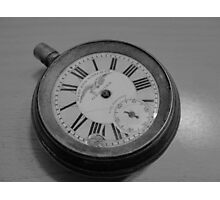 No tick, war watch, ancient, broken, time - put on hold Photographic Print