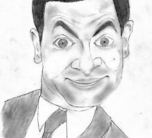 Mr. Bean, Rowan Atkinson, pencil sketch by saransh goyal