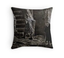 Yesterday all my trouble  seemed so far away Throw Pillow