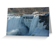 Icy Niagara Falls Greeting Card