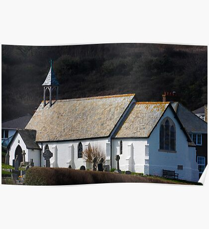 St Peters Church , Coverack Poster