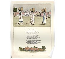 Under the Window Pictures and Rhymes for Children Edmund Evans and Kate Greenaway 1878 0045 Polly Peg Poppety Poster