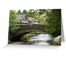 Grasmere, bridge over River Rothay Greeting Card