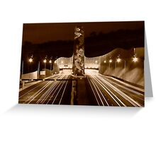 Night at Melba Tunnel in Sepia Greeting Card