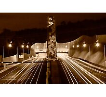 Night at Melba Tunnel in Sepia Photographic Print