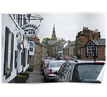 Schooner Hotel and High Street, Alnmouth, Northamptonshire Poster