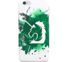 Military police - green splash iPhone Case/Skin