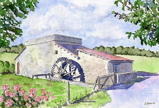 Watermill at Forgeneuve, France by ian osborne