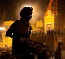 Saint of Varanasi - Ganges River, Varanasi, India. by Andrew To