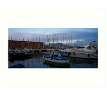 Vesuvius and the Boats II Art Print