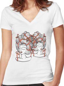 Tangled Ribbons Women's Fitted V-Neck T-Shirt