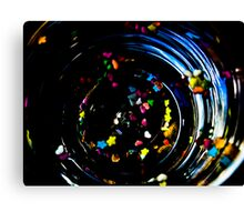 coloured spirals Canvas Print