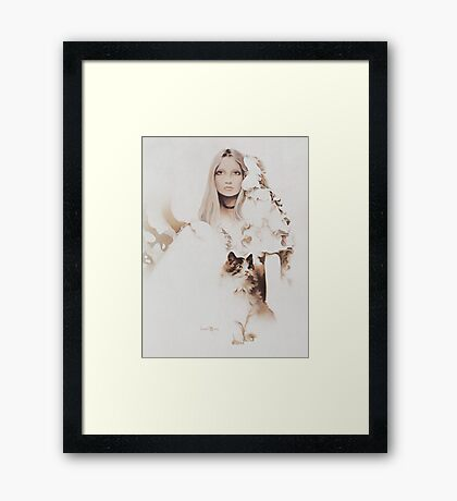 """Michelle"" Oil on Canvas Framed Print"
