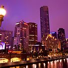 Melbourne Southbank Cityscape by blu370n3